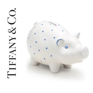Tiffany polka dot piggy bank in blue!